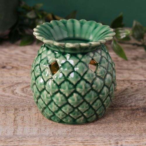 Green Pineapple Shaped Oil Burner Wax Melt Warmer Home Accessory